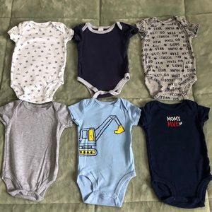 Other - Bundle 6 pieces of baby boy Bodysuit